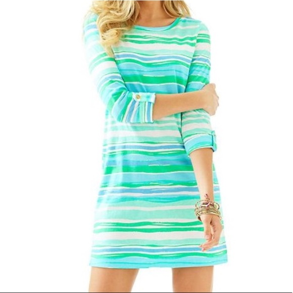Lilly Pulitzer Dresses & Skirts - Lilly Pulitzer Linden Sea Stripe T-Shirt Dress